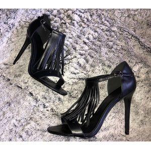 Super Cute Charlotte Russe Tassel Black Heels 9